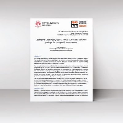 This paper shows the abilty of the Jack up software Calypso to perform SSAs - Written by Maas Hoogeveen
